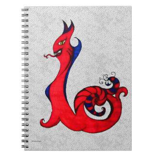 Cuaderno gótico del ejemplo del demonio del Kat de