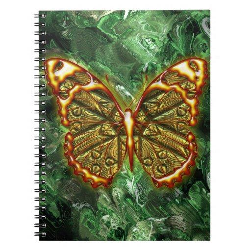 Cuaderno grabado de la mariposa 1