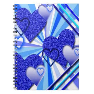 Cuaderno gráfico del corazón azul