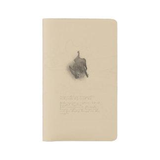 Cuaderno Grande-espigado del palo de Townsend Funda Para Libreta Y Libreta Grande Moleskine