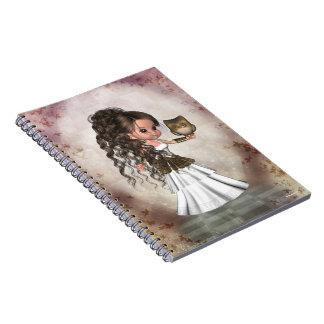 Cuaderno griego hermoso de la diosa de Kawaii Athe