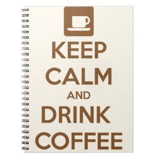 Cuaderno - guarde la calma y beba el café