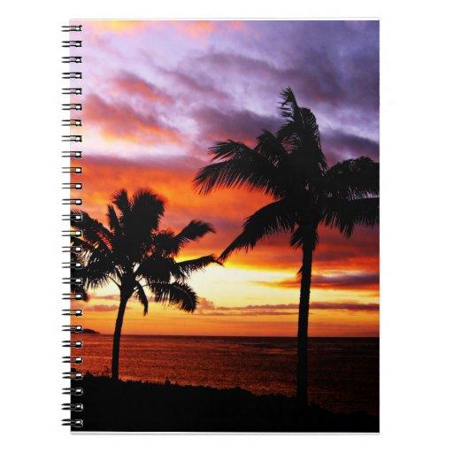 Cuaderno hawaiano de la puesta del sol
