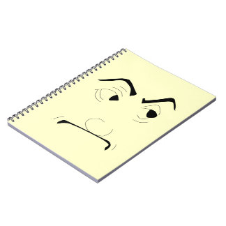 Cuaderno hecho frente severo