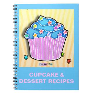 Cuaderno helado arándano de la receta de la magdal
