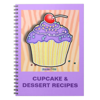 Cuaderno helado uva de la receta de la magdalena