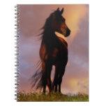 Cuaderno hermoso del caballo