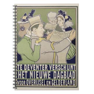 Cuaderno holandés del anuncio del periódico del