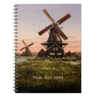 Cuaderno holandés del personalizado de los molinoe