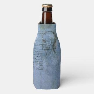 Cuaderno humano de la anatomía de da Vinci Enfriador De Botellas