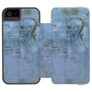 Cuaderno humano de la anatomía de da Vinci Funda Billetera Para iPhone 5 Watson