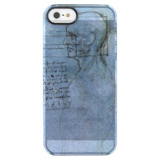 Cuaderno humano de la anatomía de da Vinci Funda Clearly™ Deflector Para iPhone 5 De Uncommon