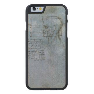 Cuaderno humano de la anatomía de da Vinci Funda De iPhone 6 Carved® De Arce