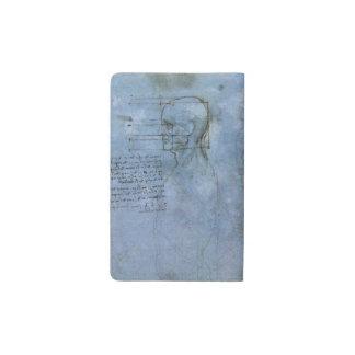 Cuaderno humano de la anatomía de da Vinci Funda Para Libreta Y Libreta Pequeña Moleskine