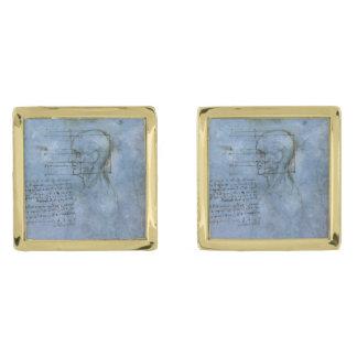 Cuaderno humano de la anatomía de da Vinci Gemelos Dorados