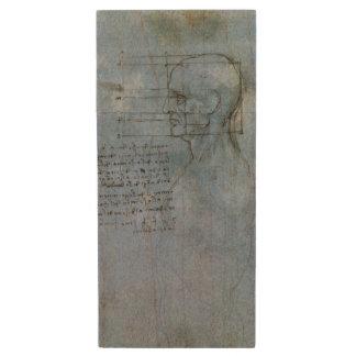 Cuaderno humano de la anatomía de da Vinci Memoria USB 2.0 De Madera