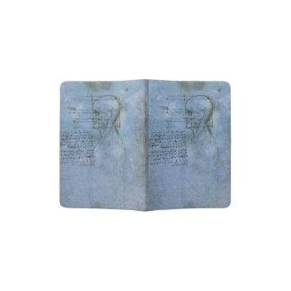 Cuaderno humano de la anatomía de da Vinci Porta Pasaporte