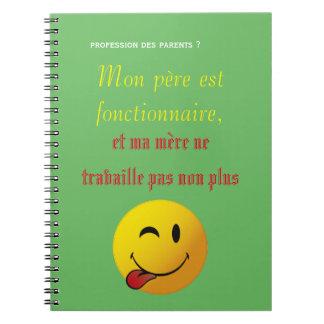 cuaderno humor funcionario