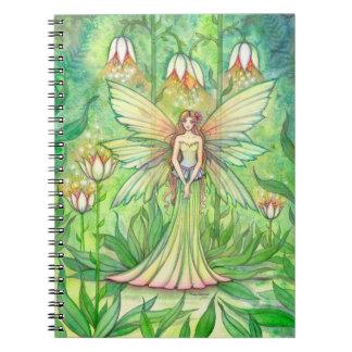 Cuaderno iluminado de la hada de la flor del jardí