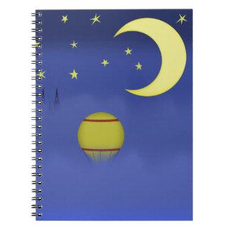 Cuaderno ilustrado del cielo nocturno