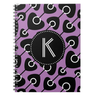 Cuaderno inconsútil púrpura negro del modelo del