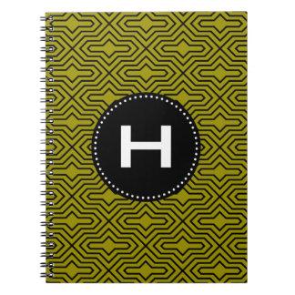 Cuaderno inconsútil verde negro del modelo del