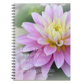 Cuaderno inspirado del diario de Rumi