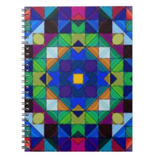Cuaderno intrépido del caleidoscopio de los cuadra