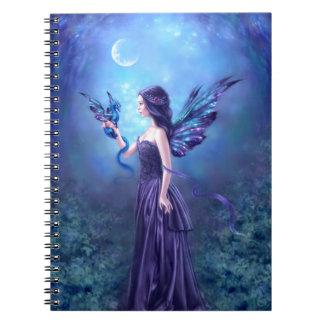 Cuaderno iridiscente del arte de la hada y del dra