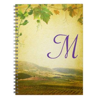 Cuaderno italiano de la inicial del monograma del