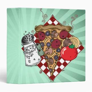 """cuaderno italiano de la receta de la pizza carpeta 1 1/2"""""""