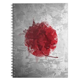 Cuaderno japonés artístico retro de la bandera