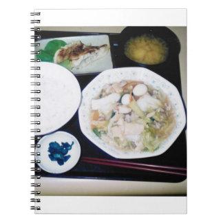 Cuaderno japonés del estilo de la comida