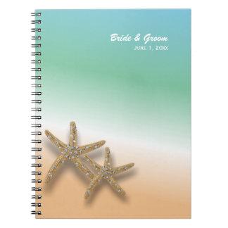Cuaderno Jeweled del boda de las estrellas de mar