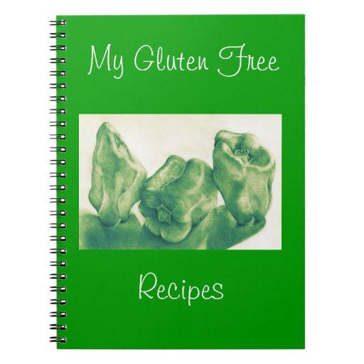 Cuaderno libre de las recetas del gluten