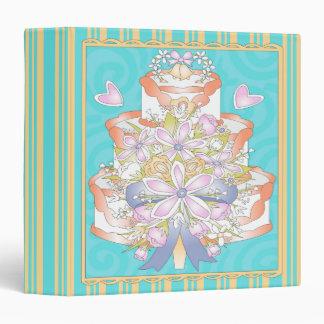 cuaderno ligero colorido del pastel de bodas