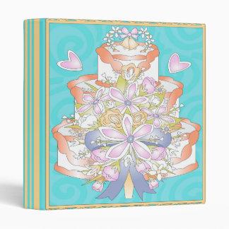 """cuaderno ligero colorido del pastel de bodas carpeta 1"""""""