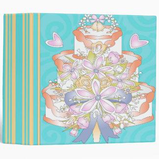 """cuaderno ligero colorido del pastel de bodas carpeta 2"""""""