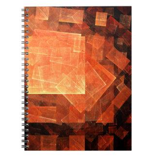 Cuaderno ligero del arte abstracto de la ventana