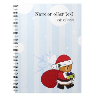 Cuaderno lindo adaptable del oso de peluche del na