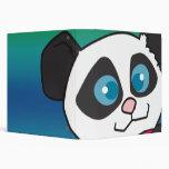 cuaderno lindo de la cara de la panda