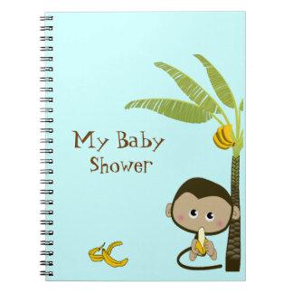 Cuaderno lindo de la fiesta de bienvenida al bebé