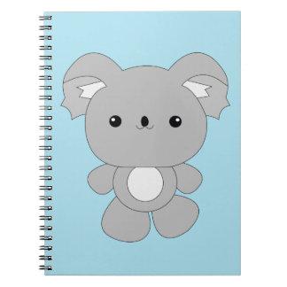 Cuaderno lindo de la koala del bebé del kawaii