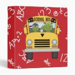 Cuaderno lindo de la rana de la escuela