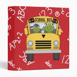 """Cuaderno lindo de la rana de la escuela carpeta 1"""""""