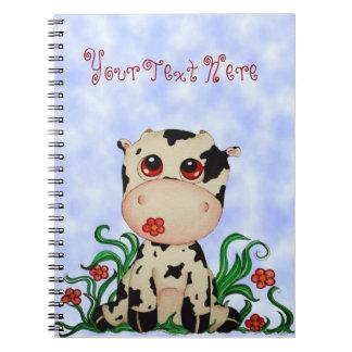 Cuaderno lindo de la vaca del bebé