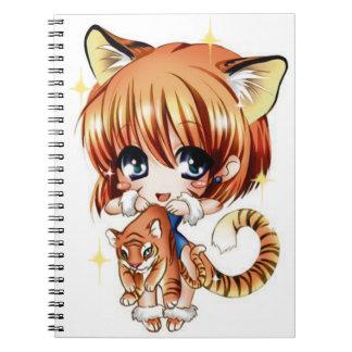Cuaderno lindo del amor del tigre