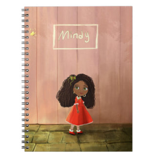 cuaderno lindo del cuaderno del chica del negro de