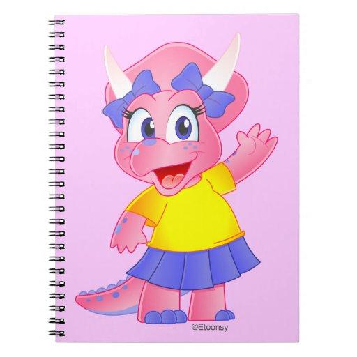 Cuaderno lindo del dibujo animado de Dino de la sa