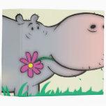 cuaderno lindo del hipopótamo del hippie